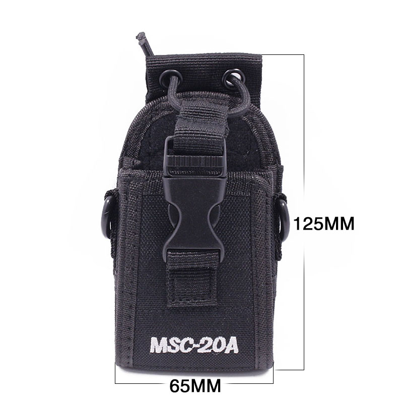 Abbree MSC-20A Nylon Two Way Radio Case Pouch Bag for Baofeng Radio UV-5R Series UV-82 888S TYT Motorola Wouxun Walkie Talkie