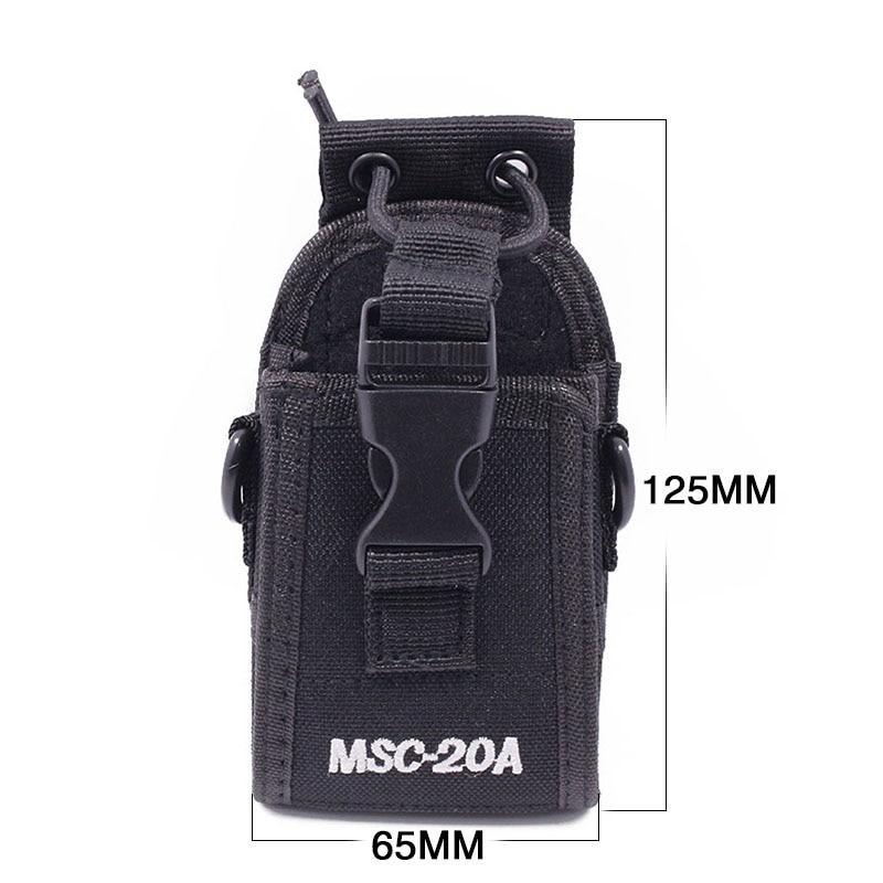 Abbree MSC-20A Nylon Two Way Radio Case Pouch Bag for Baofeng Radio UV-5R Series UV-82 888S TYT Motorola Wouxun Walkie Talkie