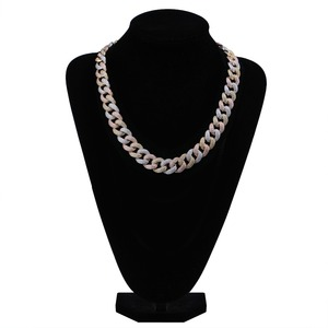 """Image 4 - Maimi Cuban Link Chain Necklace Mens Hip Hop Gold Color Iced Out Cubic Zircon Necklaces Jewelry Gifts 16""""  30"""""""