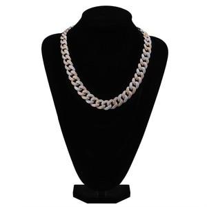 """Image 4 - Maimi cubana link corrente colar hip hop cor ouro dos homens iced para fora zircão cúbico colares jóias presentes 16 """" 30"""""""