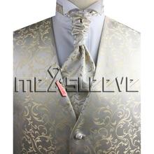 party dress jacquard fabric  bride wear 4pcs  (waistcoat+ascot tie+cufflinks+handkerchief)