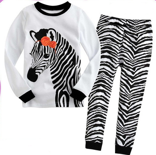 Popular Girls Zebra Pajamas-Buy Cheap Girls Zebra Pajamas lots ...