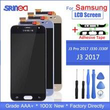 J330 A CRISTALLI LIQUIDI Per Samsung Galaxy J3 2017 Sostituzione Dello Schermo LCD J330F SM J330FN Display LCD + Touch Screen Digitizer Assembly Adesivo
