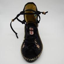 Open Peep Toe Women Gladiator Canvas Sandals Shoes