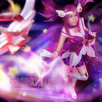 LOL New Skin Star Guardian Lux Cosplay Costume For Girls Custom made