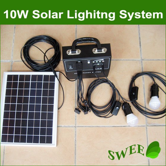 Delightful Solar Panel With Led Light Part - 2: 10W 18V Solar Monocrystalline Panel Lighting System/Solar Power System/Solar  LED Light/