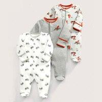 3pcs Lot Cartoon Cotton Baby Romper Newborn Long Sleeve Baby Boy Clothes Jumpsuit Infant Cute Clothes