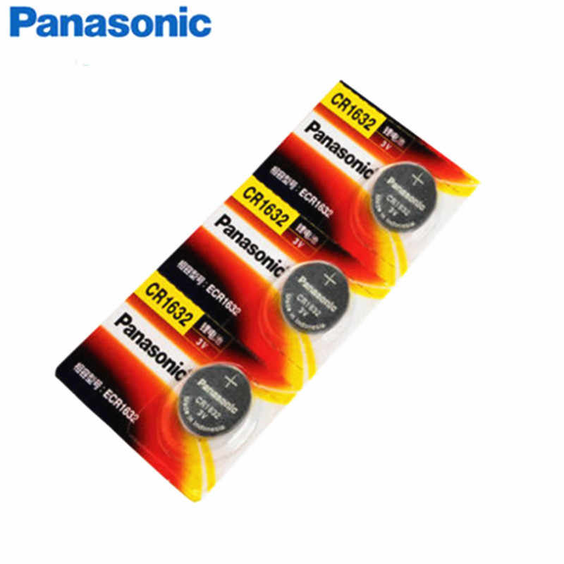 100 шт./лот Panasonic CR1632 1632 dl1632 3 В литиевых Батареи кнопки сотового монет Батарея