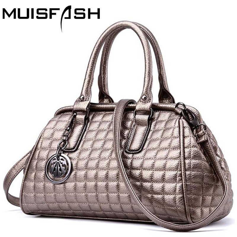 New Leather Women Handbags Famous Brands Thread Messenger Bags Women Shoulder Bags Casual Women Bag Big Capacity Tote Bag LS1075 enopella thread casual pu leather women