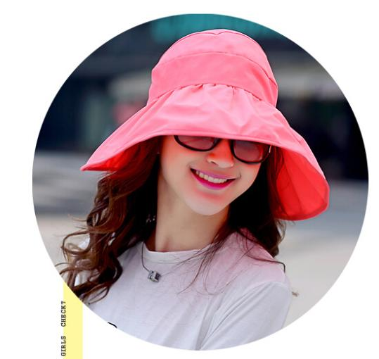 d8cd10c8 South Korea Imported Foldable UV Large Brim Empty Top Hat Resort Beach Hat  Sun Protection Hat Canvas Floppy Cap Free Shipping-in Women's Sun Hats from  ...