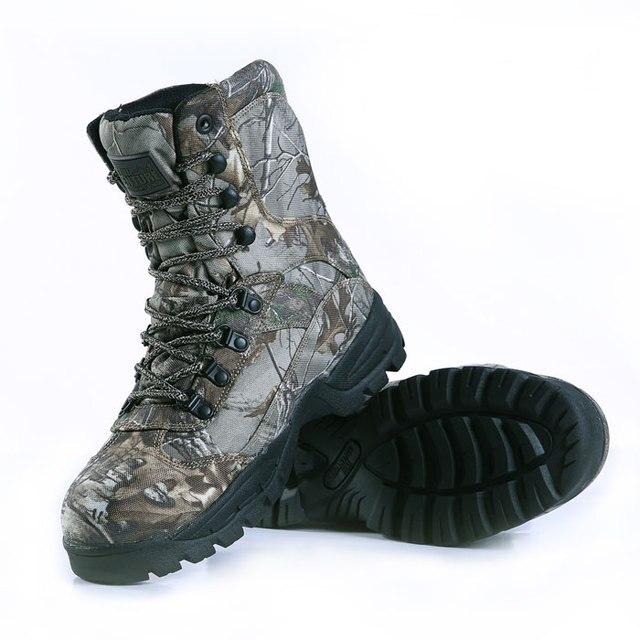 Sinairsoft haute qualité! montagne Bottes En Plein Air Trekking Randonnée  Chaussures Feuille Camo Étanche Armée