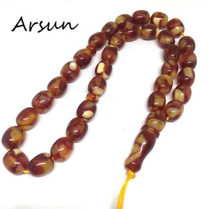 Image 4 - 10mm*11mm Resin Beads 33 Prayer Beads Islamic Muslim Tasbih Allah For Men and Women Free Shipping