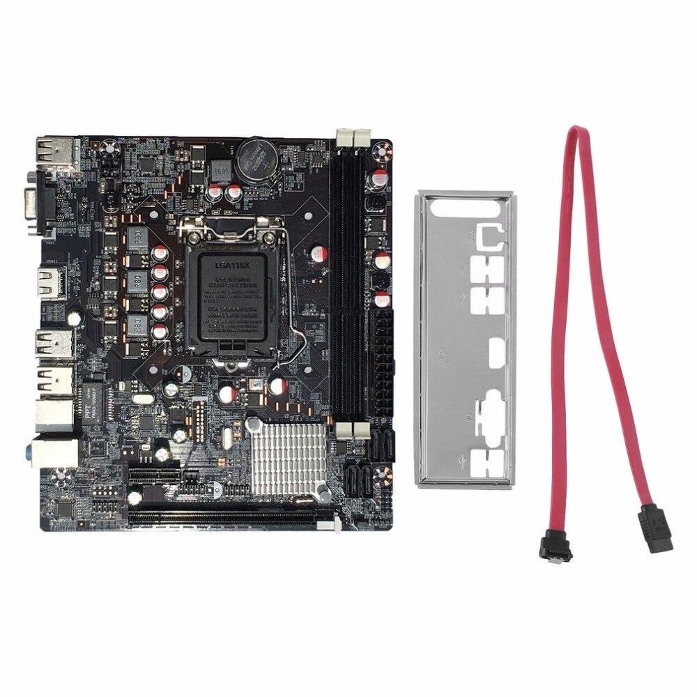 Профессиональный H61 настольный компьютер Материнская плата 1155 Булавки Процессор Интерфейс обновления USB2.0 DDR3 1600/1333