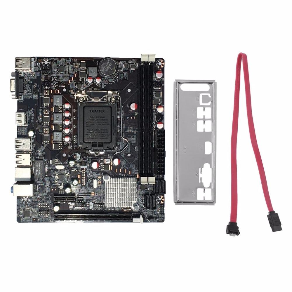 Профессиональный H61 настольный компьютер Материнская плата 1155 Pin Процессор Интерфейс обновления USB 2,0 DDR3 1600/1333