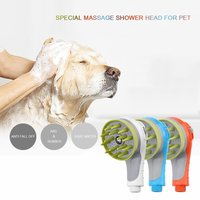 Dog Bathing Tool Shower Head Comfortable Pet Massage Comb Water tap Washing Bath Sprayers Cleaning Dog Nozzle Hand Massage Brush