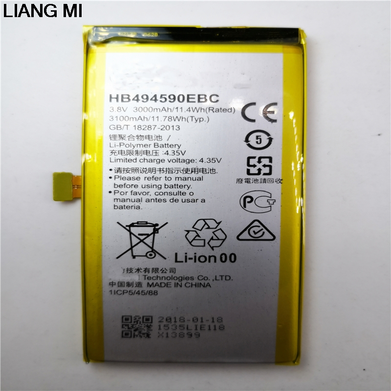 3.8v 4.35v Li Polymer Lithium Ion Rechargeable Mobile Battery For Cell Phone Hua-wei Honor 7 Plk-al10 hb494590ebc G628