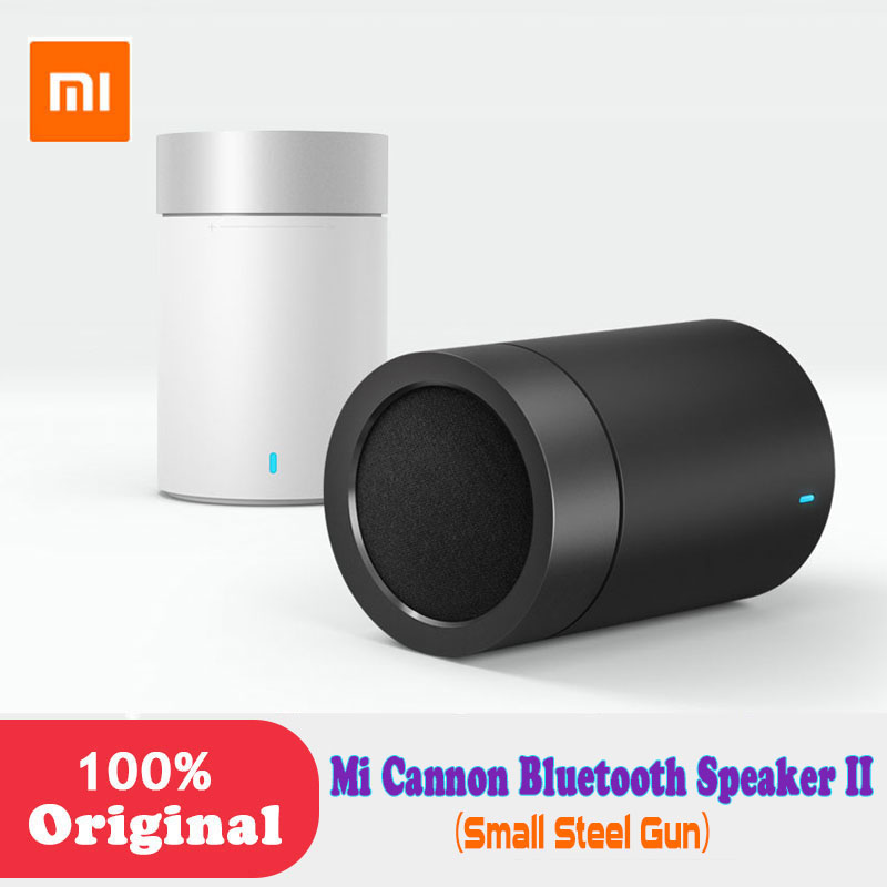 Original Xiaomi Mi Bluetooth 4.1 Speaker Cannon 2 steel Gun II Hands-free Calls Music Player with Mic bookshelf for phone PC