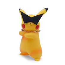 Anime Sunglasses Pikachu Smoking PVC Figurine PVC Action Figure Collection Model Christmas Gift Toy For Children 18 CM цена 2017