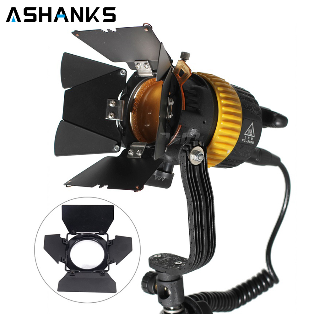 Portable High CRI 50W Bi-color LED Spotlight for Camera Video Continuous Light Dimmable with a Hole to instal reflector umbrella