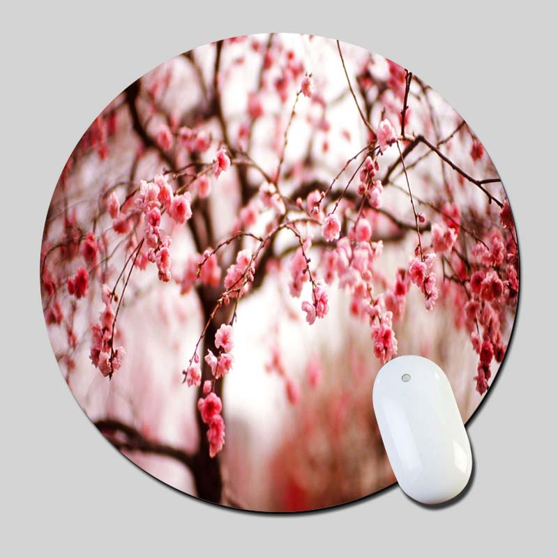 Cherry Blossom 2016 Round Gaming Mouse Mats Mice Pad for Size 200*200*2mm