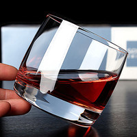 High Quality Round Heavy Base Clear Glass Glassware Whiskey Drink Cups Set Of 2