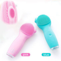Electric Silicone Mini Face Cleansing Brush Ultrasonic Skin Scrubber Makeup Remover Deep Pore Cleaning Lifting Skin Machine