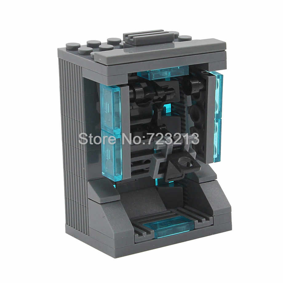 7cm Garage Iron Man Single Sale Ironman Display MOC Box Showing Case Super Hero Building Blocks Model Bricks Kits Toys