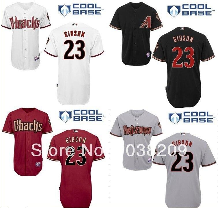 buy popular 24ff6 ccb7f HOT Sale Arizona Diamondbacks Jersey #23 Kirk Gibson Jersey ...