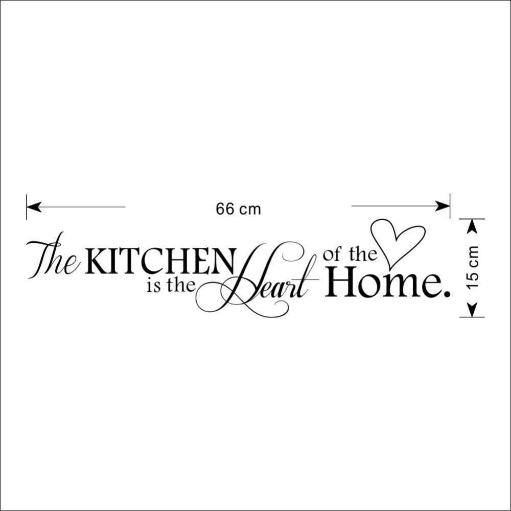 Aliexpress.com : Buy 26*6'' The Kitchen Is The Heart of The Home Warming kitchen  home decor creative quote wall decal Stickers ZYPA 8305 from Reliable wall  ...