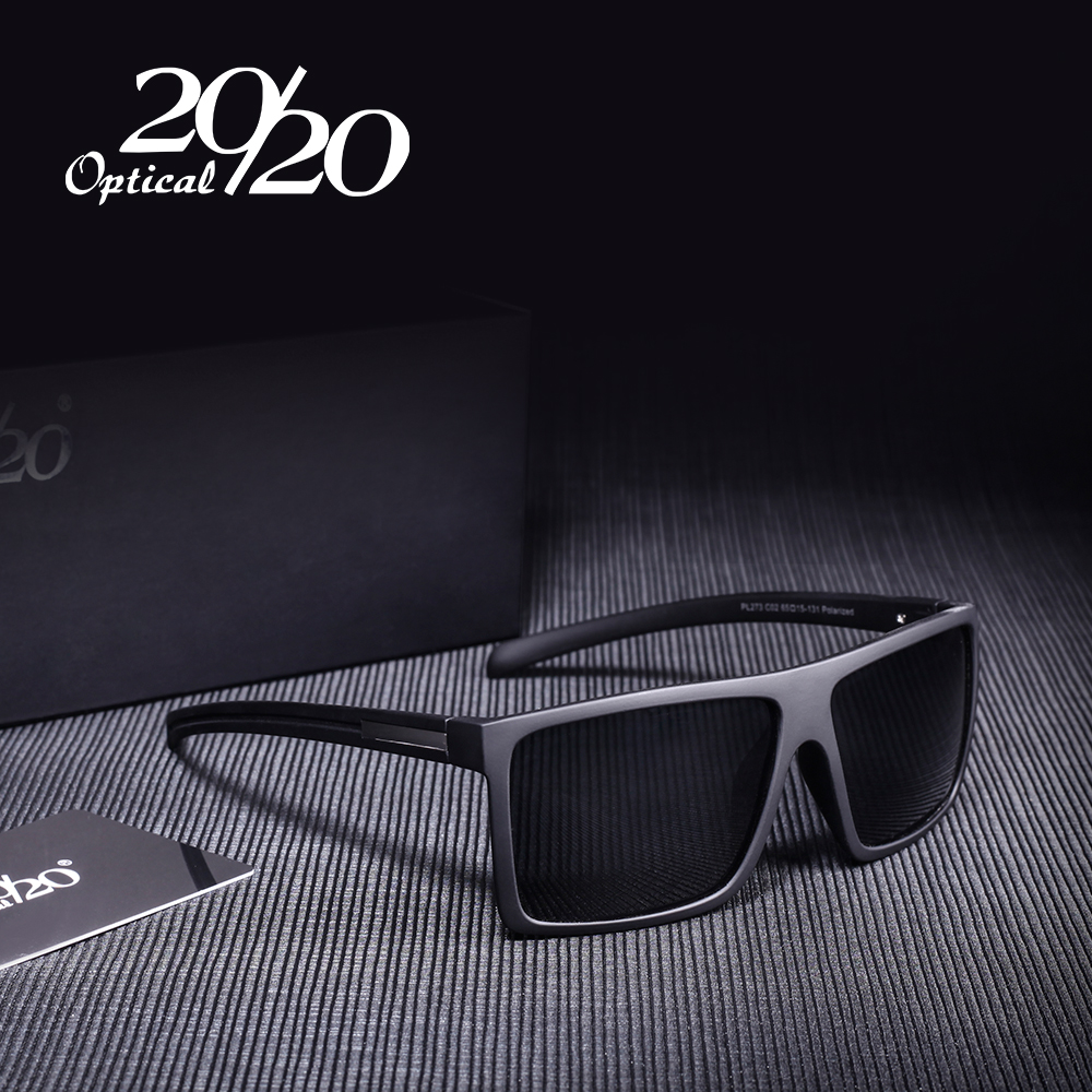 20/20 Brand Classic Black Polarized Solbriller Menn Driving Sun Glasses For Man Shades Eyewear With Box Oculos PL273
