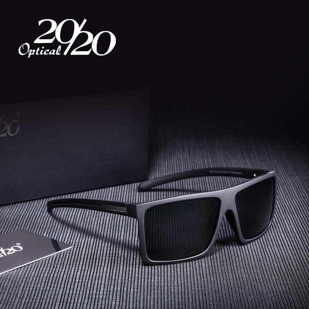 20/20 Brand Classic Black Polarized Sunglasses Men Driving Sun Glasses for man Shades Eyewear With Box Oculos PL273