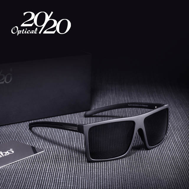 20 20 Preto Clássico Marca Óculos Polarizados Homens Condução Óculos de Sol  para homem Shades 9bdcc967c5