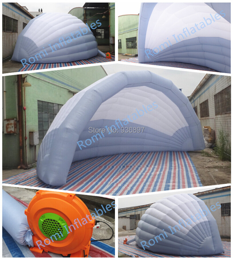 Free shipping inflatable stage tent cover Inflatable half dome tent