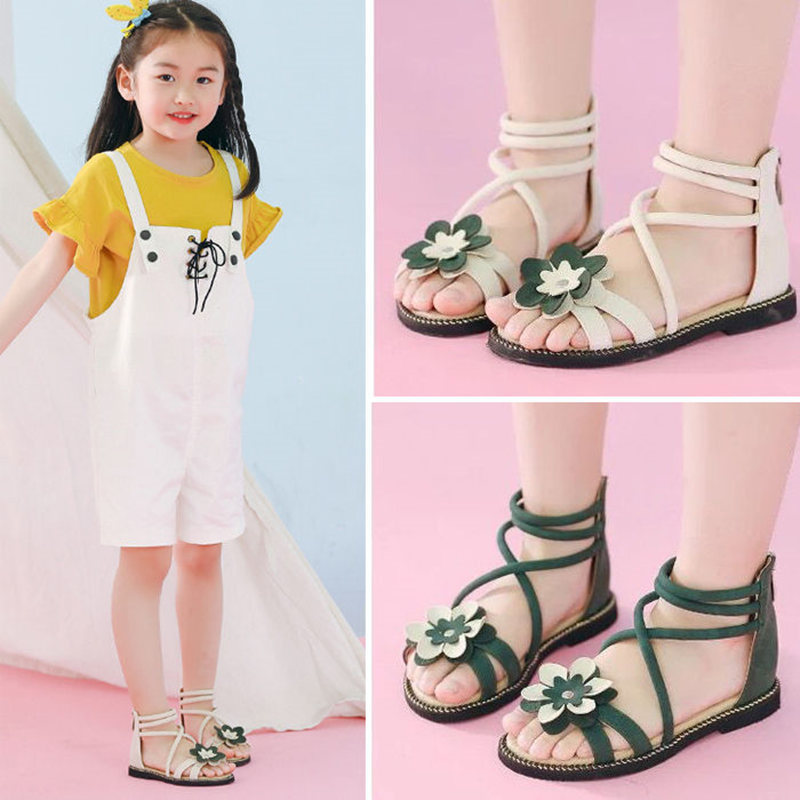 COMFY KIDS Summer New Arrivals Girls Sandals Shoes Fashion Bowtie Girls Princess Slides For Little Girls Sandals Flat With Shoes girl