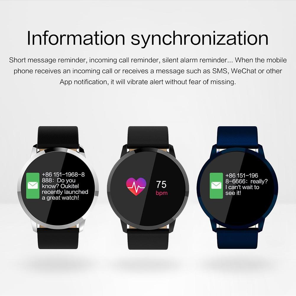 OUKITEL W1 montre intelligente fréquence cardiaque montre pression artérielle oxygène surveillance Bluetooth Watchs