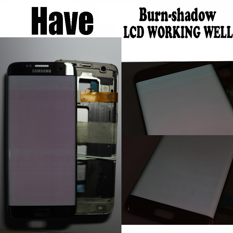 5 5 The Burn Shadow LCD For Samsung Galaxy S7 Edge Display With Frame G935F G935FD 5.5'' The Burn-Shadow LCD For Samsung Galaxy S7 Edge Display With Frame G935F G935FD Screen Digitizer Assembly With Service Pack