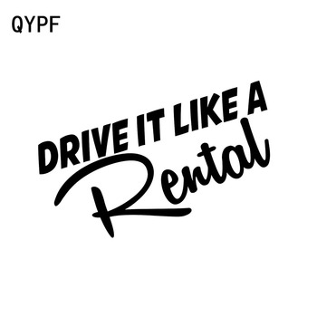 QYPF 15CM*6.5CM Funny Drive It Like A Rental Car Styling Accessories Vinyl Car Stickers Decal C15-2612 image