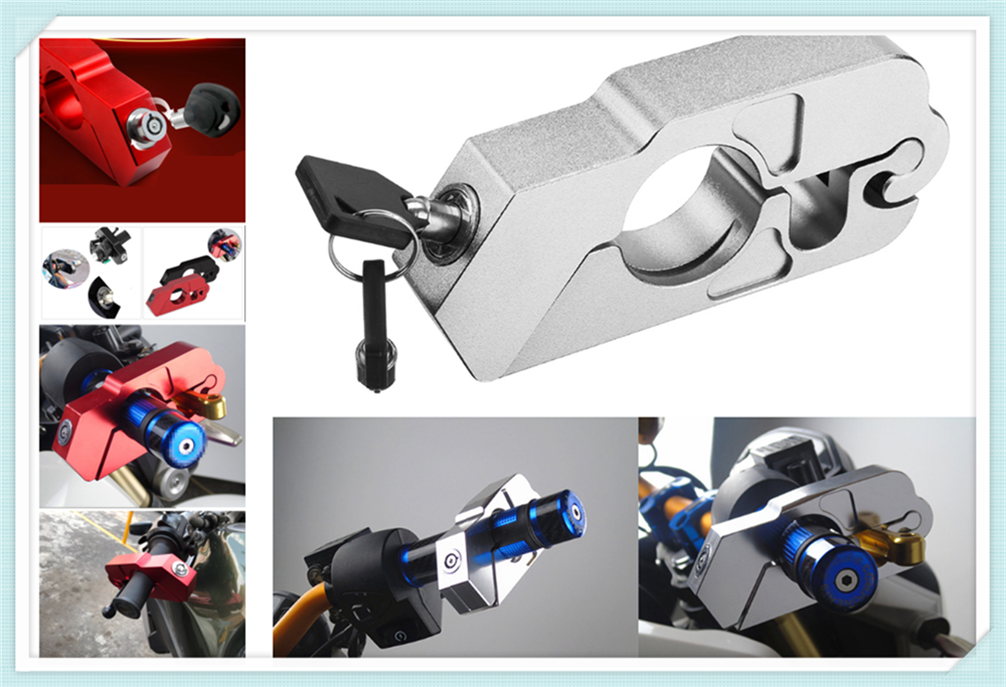 Motorcycle ATV Aluminum Alloy Anti-theft Security Lock Handle Brake For Ducati ST4S Scrambler Desert Sled 950 1200 S GT