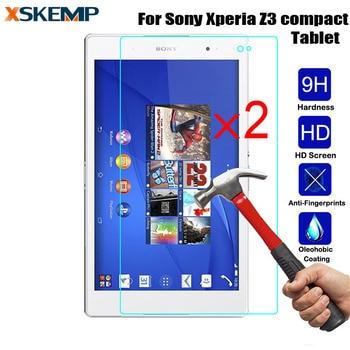 XSKEMP 2 unids/lote 2.5D Borde de arco vidrio templado real para Sony...