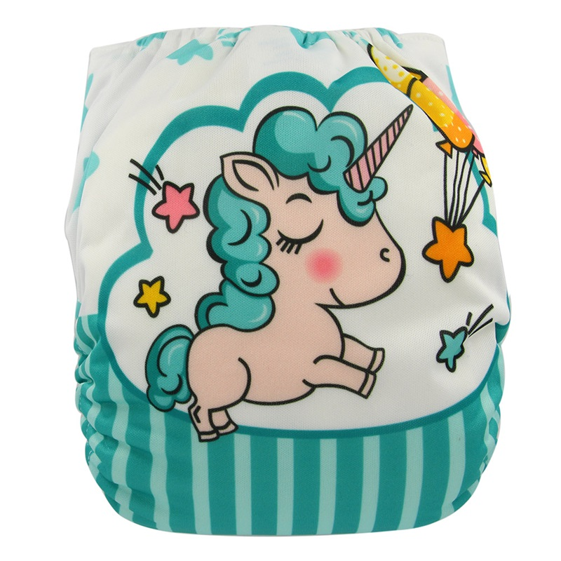 Couche Lavable Baby Cloth Diapers Digital Position Unicorn Washable Baby Cloth Diaper Cover Unicornio Reusable Nappies Fralda