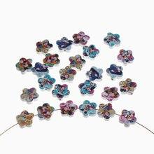 Forma de Flor Contas De Madeira 20 20mm pcs Mouse Padrão Spacer Beading Para Jóias Fazendo Artesanato DIY Brinquedos Do Bebê Chupeta clipe