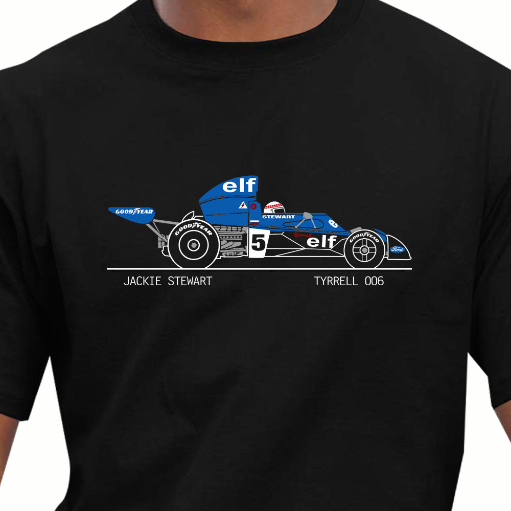 Legend car body for sale - Stranger Things Design T Shirt 2017 New Cotton Short Sleeve Race Legends Tyrrell 006 Jackie Stewart