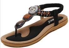 2017 high quality women's sandals Bohemia flip-flops Leisure slippers women Fashion beach shoes free shipping