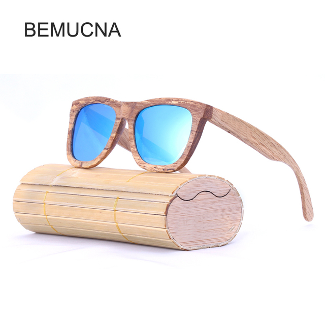 2018 Nouveau BEMUCNA Bois Polarisé lunettes de Soleil Rétro Hommes et  Femmes De Luxe À La a4e9443accff
