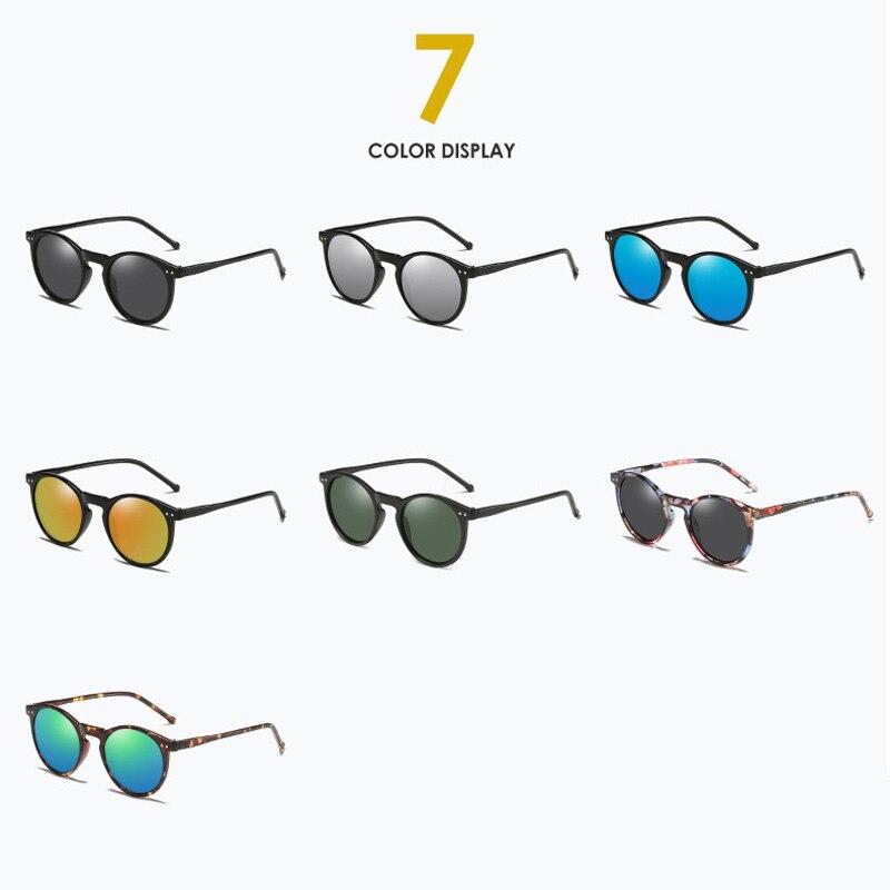 Iboode Polarized Sunglasses Men Women Driving Round Frame Sun Glasses Retro Male Female Goggle UV400 Shades Oculos Gafas De Sol