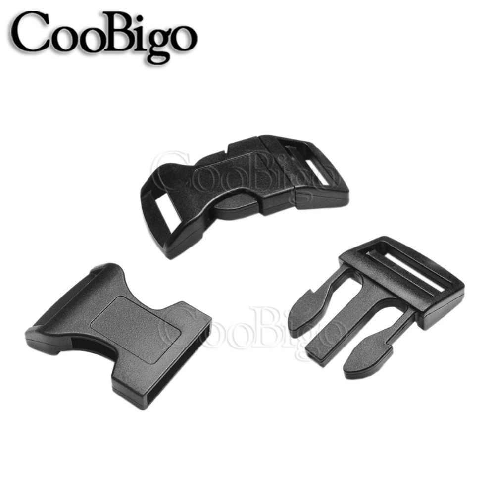 "1X Metal 3//8/""~1/"" Side Release Buckle Paracord Bracelet Leather Backpack Strap"