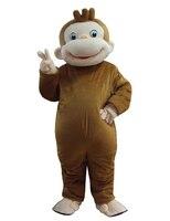 Любопытный Джордж обезьяны костюмы талисмана для взрослых размеры животных Косплей Карнавальный костюм для Хэллоуина Пурим события