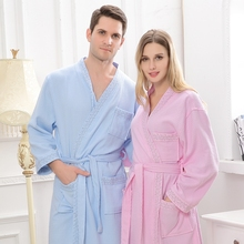 Cotton bathrobe women sexy long pijamas robe femme night gown bridesmaid kimono robe sleepwear ladies spring summer white pink