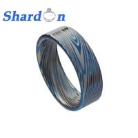 SHARDON Men S 8mm Damascus Stripes Tungsten Ring Comfort Fit Wedding Band High Polished Fashion Jewelry