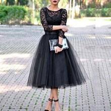 Fashion Lace Patchwork Ball Gown Dress Women Tulle Tutu Mid-Calf Dresses Elegant Party O-neck High Waist Vestidos summer dress